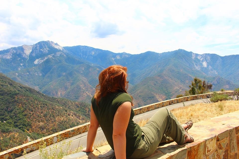 Jacquelyn overlooking Sequoia National Park. 2015.