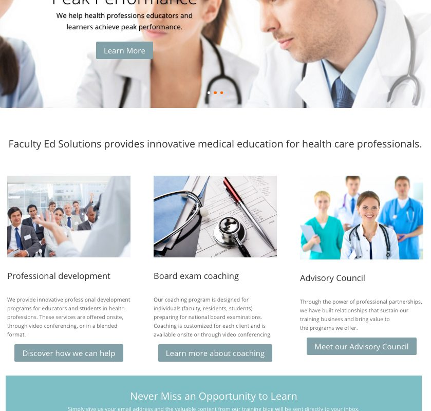 Client: Faculty Ed Solutions